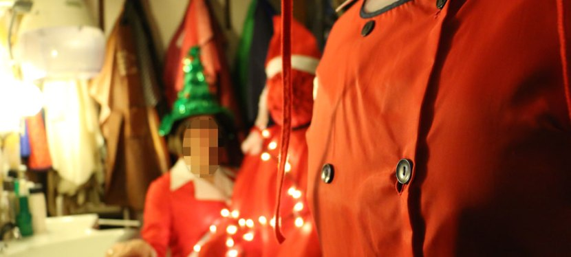 Weihnachtsbild – hinter denKulissen